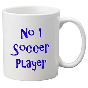 No.1 Soccer Player, 11oz Ceramic Mug.Perfect Birthday or Christmas Gift. Great Novelty 11oz Mug.
