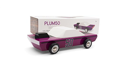 Candylab Toys Wooden Cars, Plum50 Model, Modern Vintage Racer Collectible, Kids Toy Cars, Solid Beech Wood
