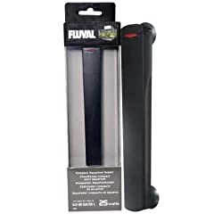 The Fluval Edge 25 watt Compact Aquarium Heater is an automatic, submersible heater for use in indoor aquariums. Without any adjustments needed, it is designed to reach and maintain the set temperature of 78º Fahrenheit. The exterior is made ...