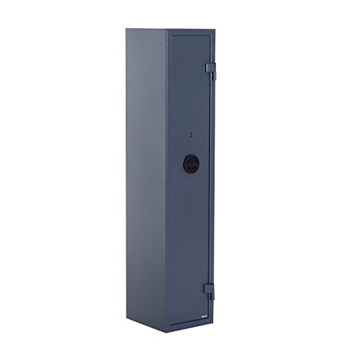 HomCom 58'' 5-Gun 3-Directional Bolted Lock Storage System Steel Safe - Dark Gray by HOMCOM