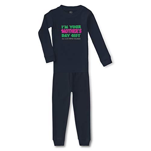 I'm Your Dad Says You're Welcome Cotton Crewneck Boys-Girls Infant Long Sleeve Sleepwear Pajama 2 Pcs Set - Navy, 5/6T ()