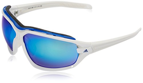 -  adidas Evil Eye Evo Pro L Rectangular Sunglasses, White Shiny/White