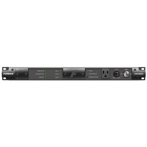 Furman Sound Contractor Series CN-2400S 1RU 20 Amp Bidirectional SmartSequencer with SMP, EVS, 9 Outlets, 10' AC Cord