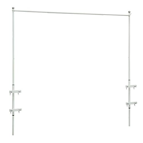 Railing Curtain Rod and 2 Posts by DermaPAD