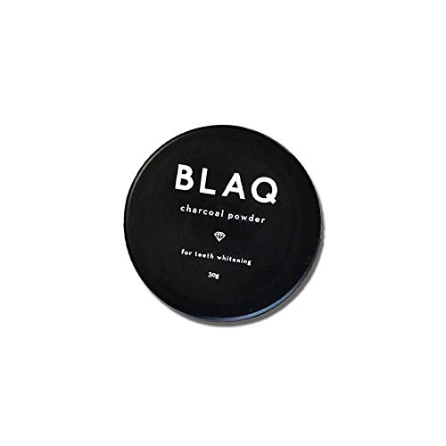 BLAQ Activated Charcoal Teeth Whitening Powder - Organic Teeth Whitener and Cleanser with Menthol and Cruelty-Free