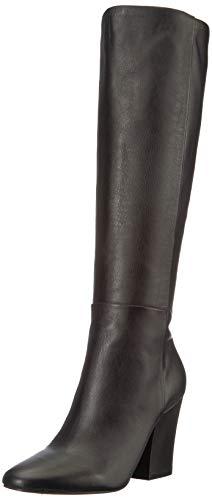 Kenneth Cole New York Women's Merrick Knee Boot High Heel, Black Leather,...
