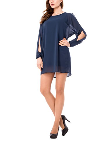 Olivia Abito Velato, Vestido para Mujer Azul (Tampone)