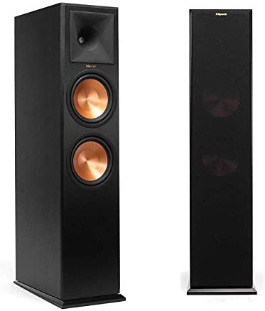Klipsch RP-280FA Tower Speaker with Built-in Dolby Atmos Height Channel Black Vinyl Pair