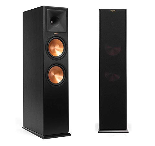 Klipsch RP-280FA Tower Speaker with Built-in Dolby Atmos Height Channel (Black Vinyl Pair)