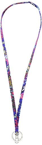 Vera Bradley Lighten Up Lanyard, Polyester, Petite Paisley