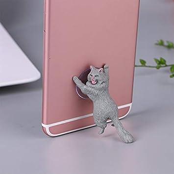 Universal Cute Cat Support Resin Soporte para teléfono móvil Stand ...