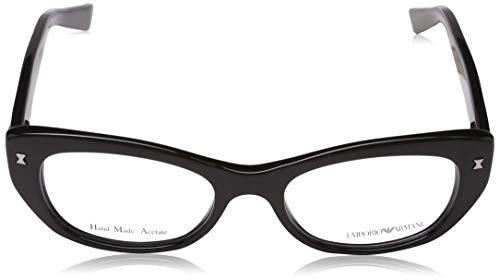 Black 55 Mujer para 0EA4110 Emporio Sol de Grey Gafas Azure Negro Armani 56328G qzwT7