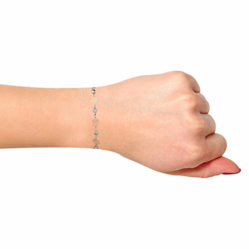Efulgenz Rose Gold Plated Charm Fashion Bracelets Anklet Novelty Costume Fashion Jewellery for Girls and Women Love Gift by Efulgenz (Image #2)
