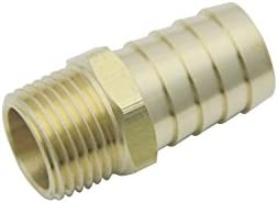 Hose Barb Fuel Gas Water Pack of 300 19mm LTWHOME Brass Barbed Fitting Coupler//Connector 1//2 Male BSPT x 3//4