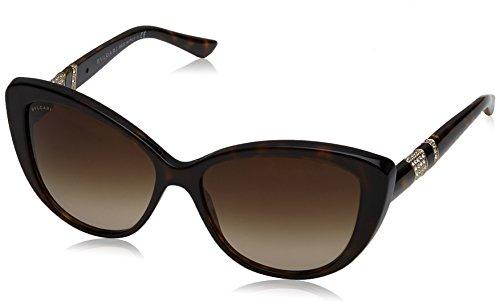 Bvlgari Women's BV8151B Sunglasses Dark Havana / Brown Gradient 57mm