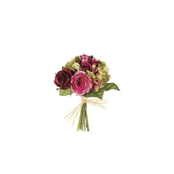 10.5″ Rose/Hydrangea Mixed Bouquet Rose Green (Pack of 6)