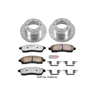 (Power Stop K1906-36 Z36 Truck & Tow Front and Rear Brake Kit)