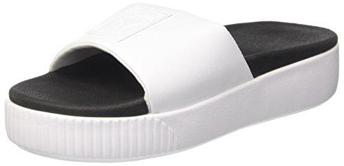 puma Plateforme Platform Puma Puma Slide Black Femme White Wns Sandales Blanc afSznSUq