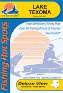 Lake Texoma Fishing Map (Oklahoma Fishing Map Series, A353)
