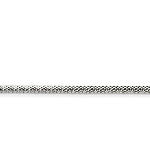 ICE CARATS Stainless Steel 3.2mm 30in Link Bismark Chain Necklace 30 Inch Pendant Charm Mesh Popcorn Fashion Jewelry Ideal Gifts For Women Gift Set From Heart (Bismark Link)