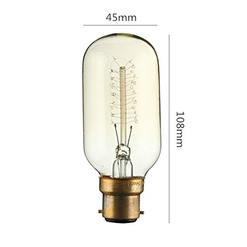 KINGSO 1 pack 40W B22 T45 24Anchors Squirrel Cage Vintage Edison Radio Valve Tubular Light Bulb Warm White 2700K 150lm 220V