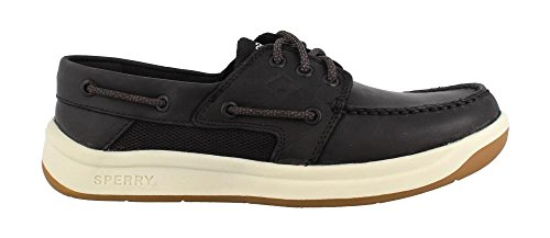 SPERRY Men's Convoy 3-Eye Boat Shoe, Black, 13 Medium - Lacing Eyelet System