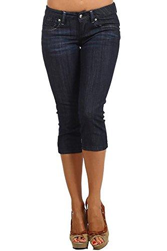 Blue Denim Capri Jeans - 7