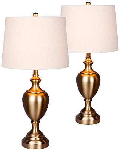 Antique Gold Urn - Callum Plated Antique Gold Urn Table Lamp Set of 2