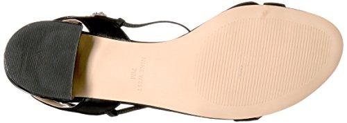 Nine West Women's Rizzah Leather Dress Sandal Black CpjaU5f