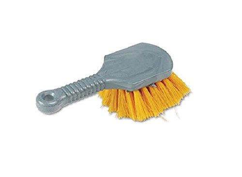 Rubbermaid - Best Commercial Plastic/ Synthetic Home Cleaning Brush with 8-inch Grey Long Handle and Yellow Bristles Scrub (Pack of 4)