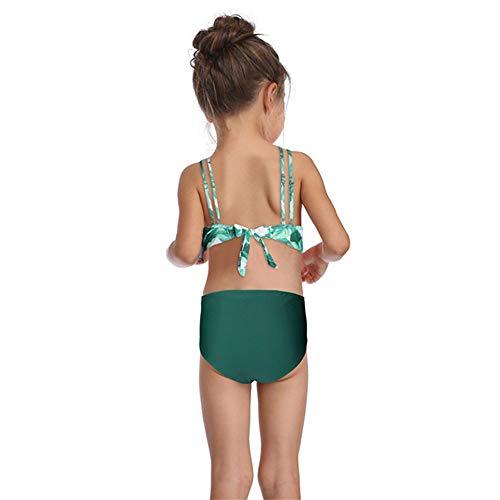 LONMEI Maillots De Bain Femmes Filles Maillots de bain 2 pièces 2 Pièces Bikini Parent-Enfant Taille Haute Imprimé Plage