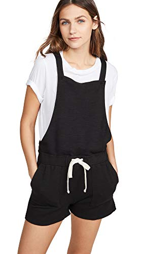 Monrow Women's Short Overall w/Patch Pockets, Black, -