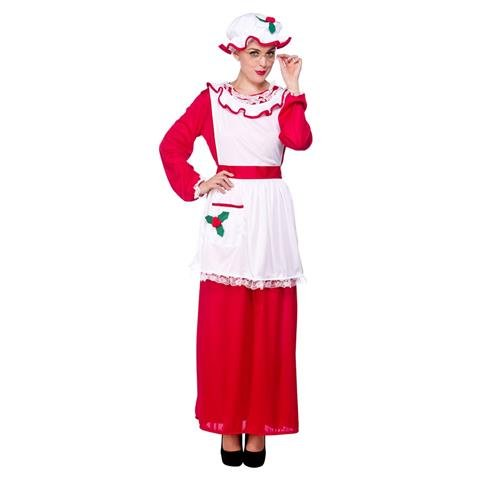 Mrs Santa Clause One Size Adult Women Fancy Dress (Mrs Santa Claus Costume Uk)