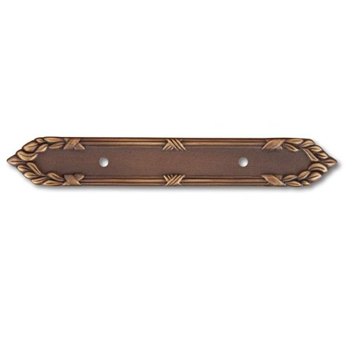 Rk International - Antique English Rki Ornate Edge Pull Backplate (Rkibp384Ae) - Edge Pull Backplate