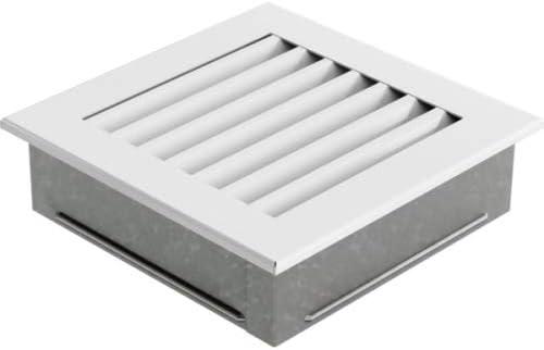 Warmluftgitter Ofen 17x17 cm Wei/ß geb/ürstet Kaminofen Kamin Heizeinsatz