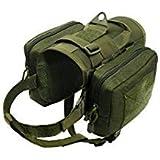 PET ARTIST Waterproof Tactical Dog Training Harness Vest Travel Camping Hiking Backpack Saddle Bag for Medium Large Dogs