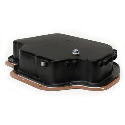 Derale 14202 Transmission Cooling Pan for GM Turbo 400 Deep Pan (Coolers Pan Derale Transmission)
