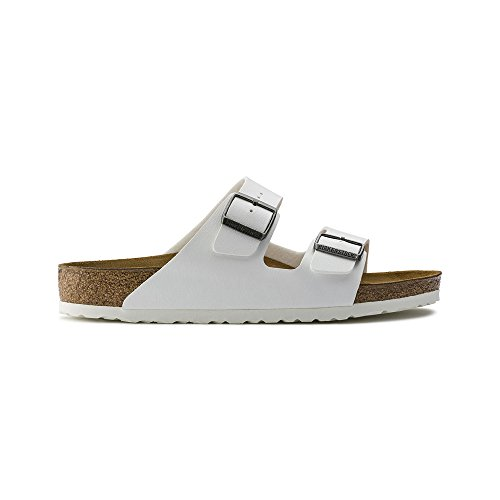 Birkenstock Arizona Women's White Birko-Flor Sandal 46/Women's US Size 15-15.5 by Birkenstock