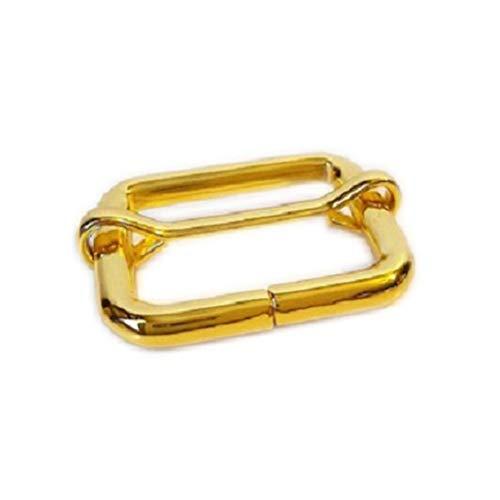 """Center Finished (1""""Golden finished Slide Adjusters/Tri Glides/Tri Bars for Adjustable Straps - with Movable Center Bar (Pack of 25))"""