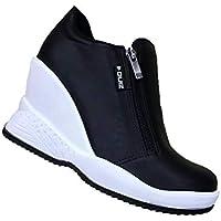 Tênis Sneaker Quiz Plataforma Anabela 6719903 Feminino Preto