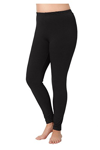 Ulla Popken Women's Plus Size Leggings All Comfort Elastic Waistband Black 24/26 485548 10 (Elastic Waist Stretch Leggings)