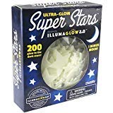 Ultra Glow in the Dark Stars; 200 Count w/ Bonus Moon: more info