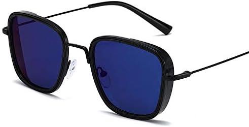 QWERTYU Neue Steampunk Wind-voreingenommene Sonnenbrille, Burst Sonnenbrille für männliche Fahrer Retro Box Sonnenbrille