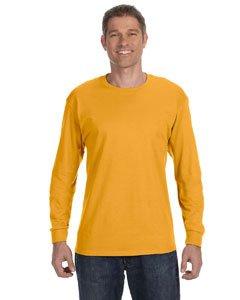 Jerzees 50/50 Heavyweight Blend Long-Sleeve T-Shirt, XL, GOLD (Jerzees Blend Youth Heavyweight)
