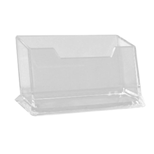 Uxcell Hard Plastic Desk Business Name Card Holder, Trans...