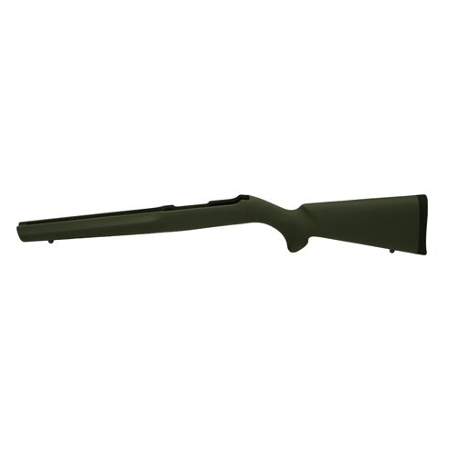 Overmolded Rifle Stocks - Hogue 22200 10/22 OverMolded Stock, Rubber, Standard Barrel, Olive Drab Green