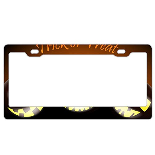 YUMHlicenseplateframeLL Halloween Greeting Abstract License Plate Frame Car Licence Plate Cover Auto Tag Holder Tag Sign 12inch; x -
