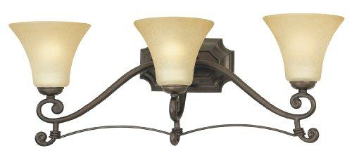 - Thomas Lighting M1533-63 ST. James Three-Light 26-Inch W by 9-1/2-Inch H Bath Light, Painted Bronze