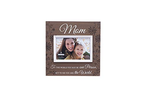 Malden International Designs Sun Washed Words Mom Walnut Distressed Picture Frame, 4x6, Walnut