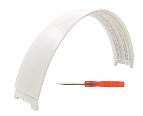 Replacement Top Headband Pad Cushions Repair Parts for Beats Studio 2.0 Wired / Wireless Over Ear Headphone (White)